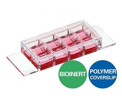 μ-Slide 8孔独立高壁生物惰性腔室载玻片